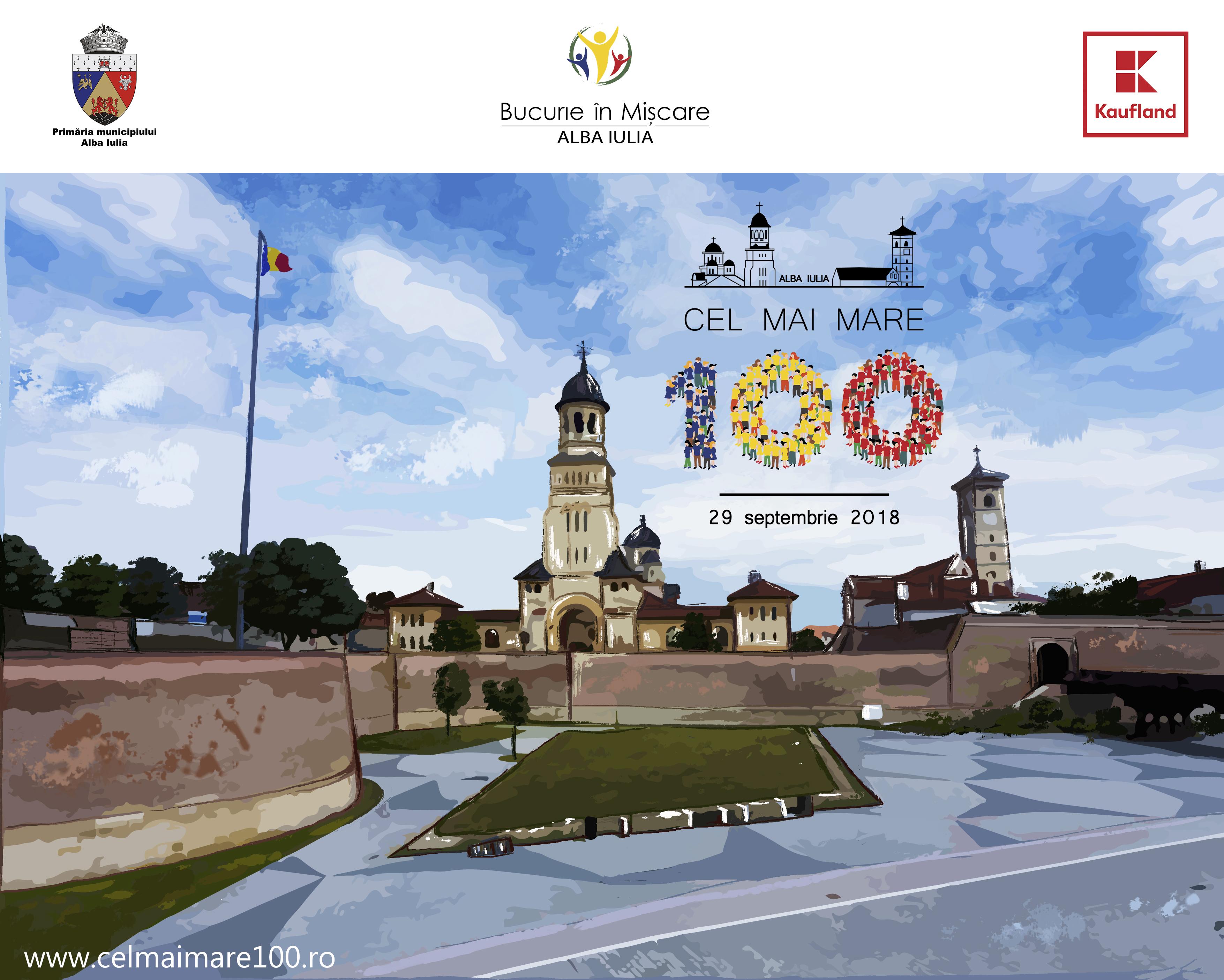 Uniți în #CelMaiMare100! În septembrie, în cadrul Bucurie în Mișcare Alba Iulia